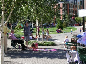 urban park in pearl district-downtown protland